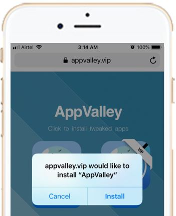 appvalley.vip would like to install AppValley